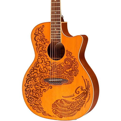 Luna Guitars Henna Paradise Cedar Series II Acoustic-Electric Guitar