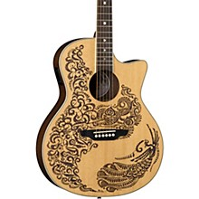 Luna Guitars Henna Paradise Select Spruce Acoustic-Electric Guitar