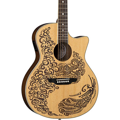 Luna Guitars Henna Paradise Select Spruce Acoustic-Electric Guitar Satin Natural