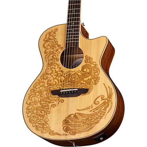 Luna Guitars Henna Paradise Spruce Acoustic-Electric Guitar