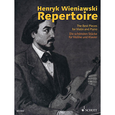 Schott Henryk Wieniawski Repertoire - The Best Pieces for Violin and Piano String Series Softcover