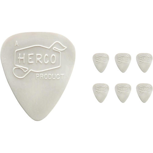 Dunlop Herco Vintage 66' Extra Light Picks White (6-Pack)