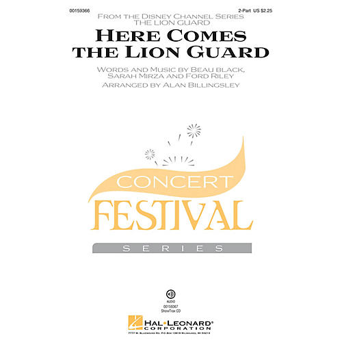 Hal Leonard Here Comes the Lion Guard 2-Part by Beau Black arranged by Alan Billingsley