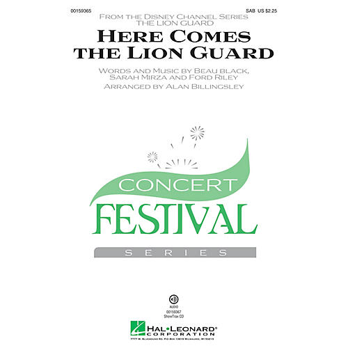 Hal Leonard Here Comes the Lion Guard SAB by Beau Black arranged by Alan Billingsley