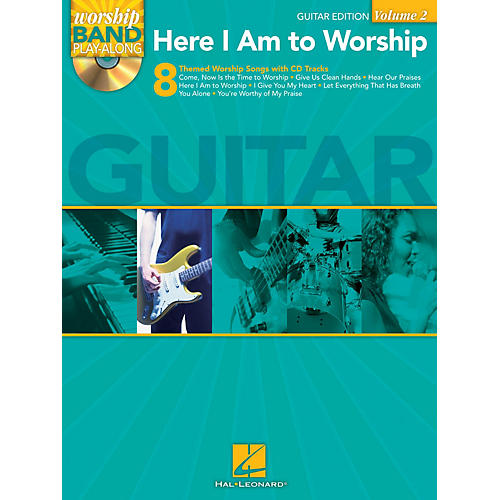 Hal Leonard Here I Am to Worship - Guitar Edition Worship Band Play-Along Series Softcover with CD