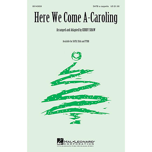 Hal Leonard Here We Come A-Caroling TTBB A Cappella Arranged by Kirby Shaw