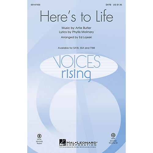 Hal Leonard Here's to Life SSA Arranged by Ed Lojeski