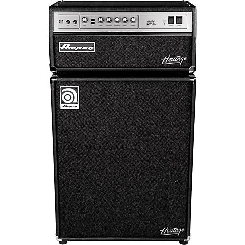 Ampeg Heritage SVT-CL 300W Tube Bass Amp Head with 4x10 500W Bass Speaker Cab