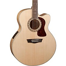 Open Box Washburn Heritage Series USM-HJ40SCE Jumbo Acoustic-Electric Guitar