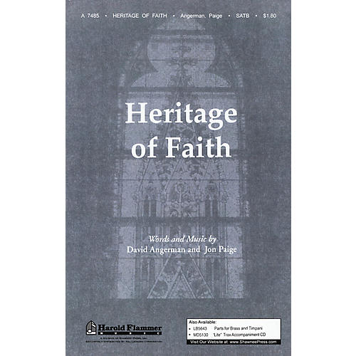 Shawnee Press Heritage of Faith SATB composed by David Angerman