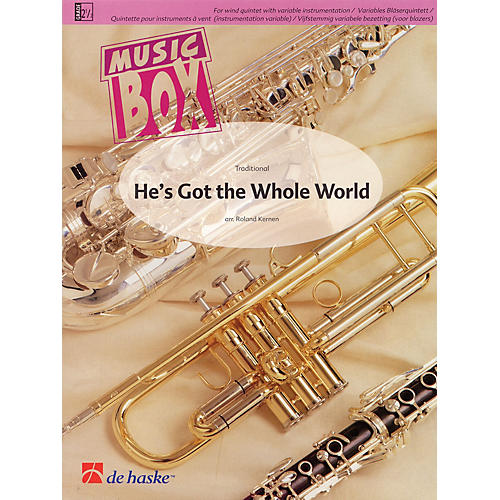 De Haske Music He's Got the Whole World Concert Band Level 2.5 Arranged by Roland Kernen