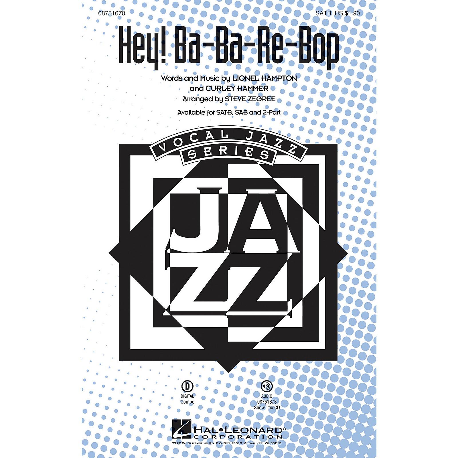 Hal Leonard Hey! Ba-ba-re-bop SATB by Lionel Hampton arranged by Steve Zegree
