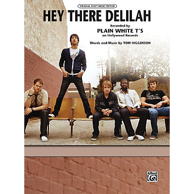 Alfred Hey There Delilah Piano/Vocal/Chords Sheet