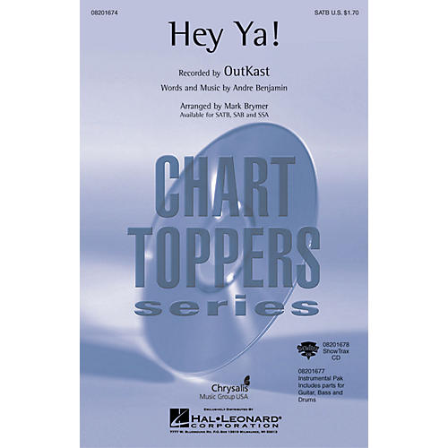 Hal Leonard Hey Ya! ShowTrax CD by OutKast Arranged by Mark Brymer