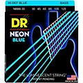DR Strings Hi-Def NEON Blue Coated 6-String Bass Strings Medium (30-125) thumbnail