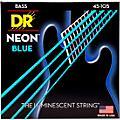 DR Strings Hi-Def NEON Blue Coated Medium 4-String (45-105) Bass Guitar Strings thumbnail