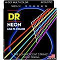 DR Strings Hi-Def NEON Multi-Color Coated Medium Acoustic Guitar Strings thumbnail
