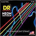 DR Strings Hi-Def NEON Multi-Color Coated Medium Electric Guitar Strings thumbnail