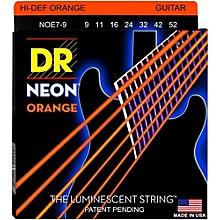 DR Strings Hi-Def NEON Orange Coated Lite 7-String Electric Guitar Strings (9-52)