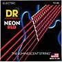 DR Strings Hi-Def NEON Red Coated Medium (10-46) Electric Guitar Strings