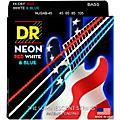 DR Strings Hi-Def NEON Red, White & Blue Electric Bass 4-String Bass Strings thumbnail