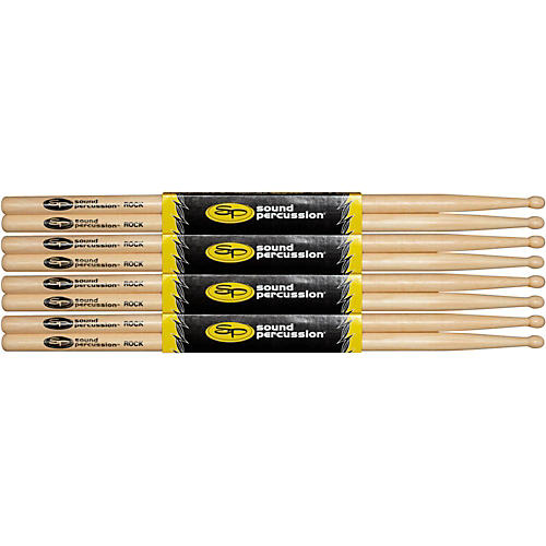 Sound Percussion Labs Hickory Drum Sticks 4-Pack Rock Wood