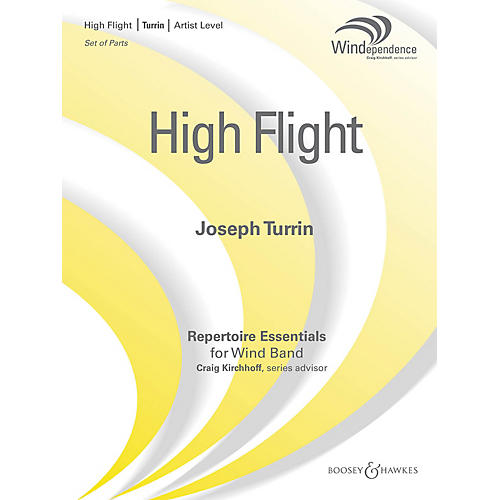 Boosey and Hawkes High Flight (Score Only) Concert Band Composed by Joseph Turrin