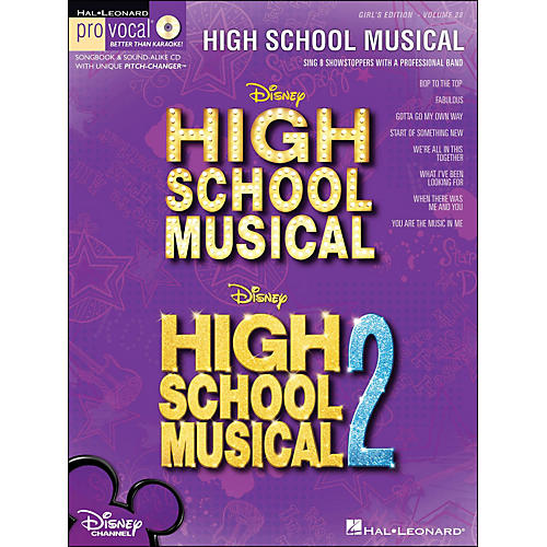 Hal Leonard High School Musical 1 And 2 Girls Edition - Pro Vocal Series Volume 28 Book/CD