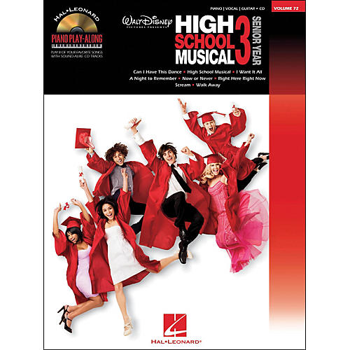 Hal Leonard High School Musical 3 Piano Play-Along Volume 72 Book/CD arranged for piano, vocal, and guitar (P/V/G)