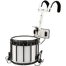 High-Tension Marching Snare Drum with Carrier 14 x 12 White