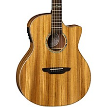 High Tide Exotic Wood Cutaway Grand Concert Acoustic-Electric Guitar Zebrawood