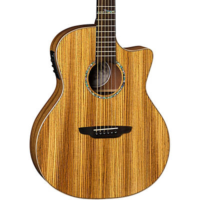 Luna Guitars High Tide Exotic Wood Cutaway Grand Concert Acoustic-Electric Guitar