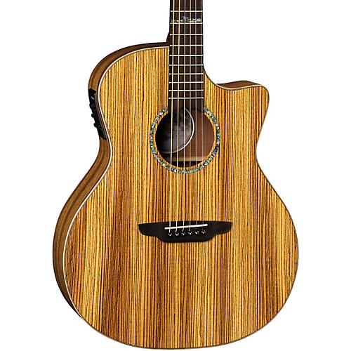 Luna Guitars High Tide Exotic Wood Cutaway Grand Concert Acoustic-Electric Guitar Zebrawood
