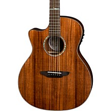 Luna Guitars High Tide Koa Left-Handed Grand Concert Acoustic/Electric Guitar