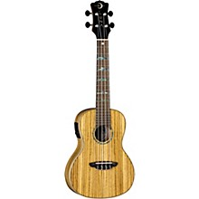 Luna Guitars High Tide Zebrawood Concert Acoustic-Electric Ukulele