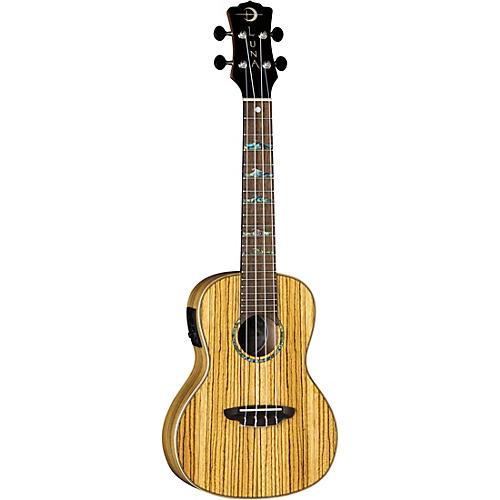 luna guitars high tide zebrawood concert acoustic electric ukulele zebrawood musician 39 s friend. Black Bedroom Furniture Sets. Home Design Ideas