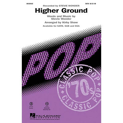 Hal Leonard Higher Ground SAB by Stevie Wonder Arranged by Kirby Shaw