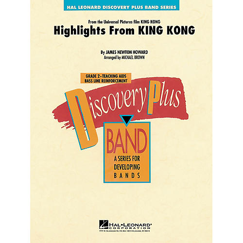 Hal Leonard Highlights from King Kong - Discovery Plus Concert Band Series Level 2 arranged by Michael Brown