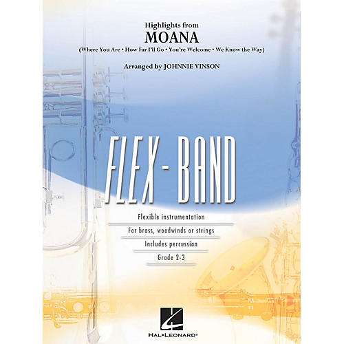 Hal Leonard Highlights from Moana Concert Band Level 2-3 Arranged by Johnnie Vinson