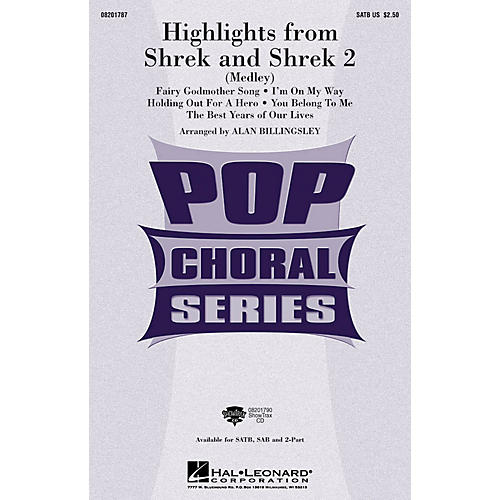 Hal Leonard Highlights from Shrek and Shrek 2 2-Part Arranged by Alan Billingsley