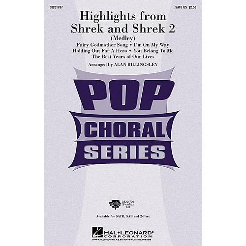 Hal Leonard Highlights from Shrek and Shrek 2 SATB arranged by Alan Billingsley
