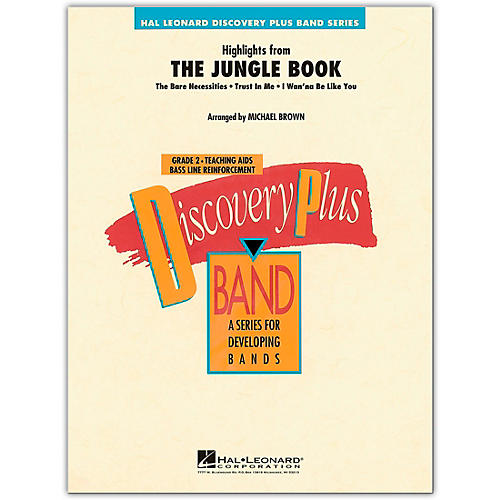 Hal Leonard Highlights from The Jungle Book - Discovery Plus Concert Band Series Level 2 arranged by Michael Brown
