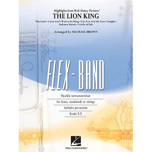 Hal Leonard Highlights from The Lion King Concert Band Level 2-3 Arranged by Michael Brown