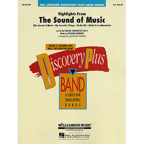 Hal Leonard Highlights from The Sound of Music - Discovery Plus Concert Band Series Level 2 arranged by Vinson
