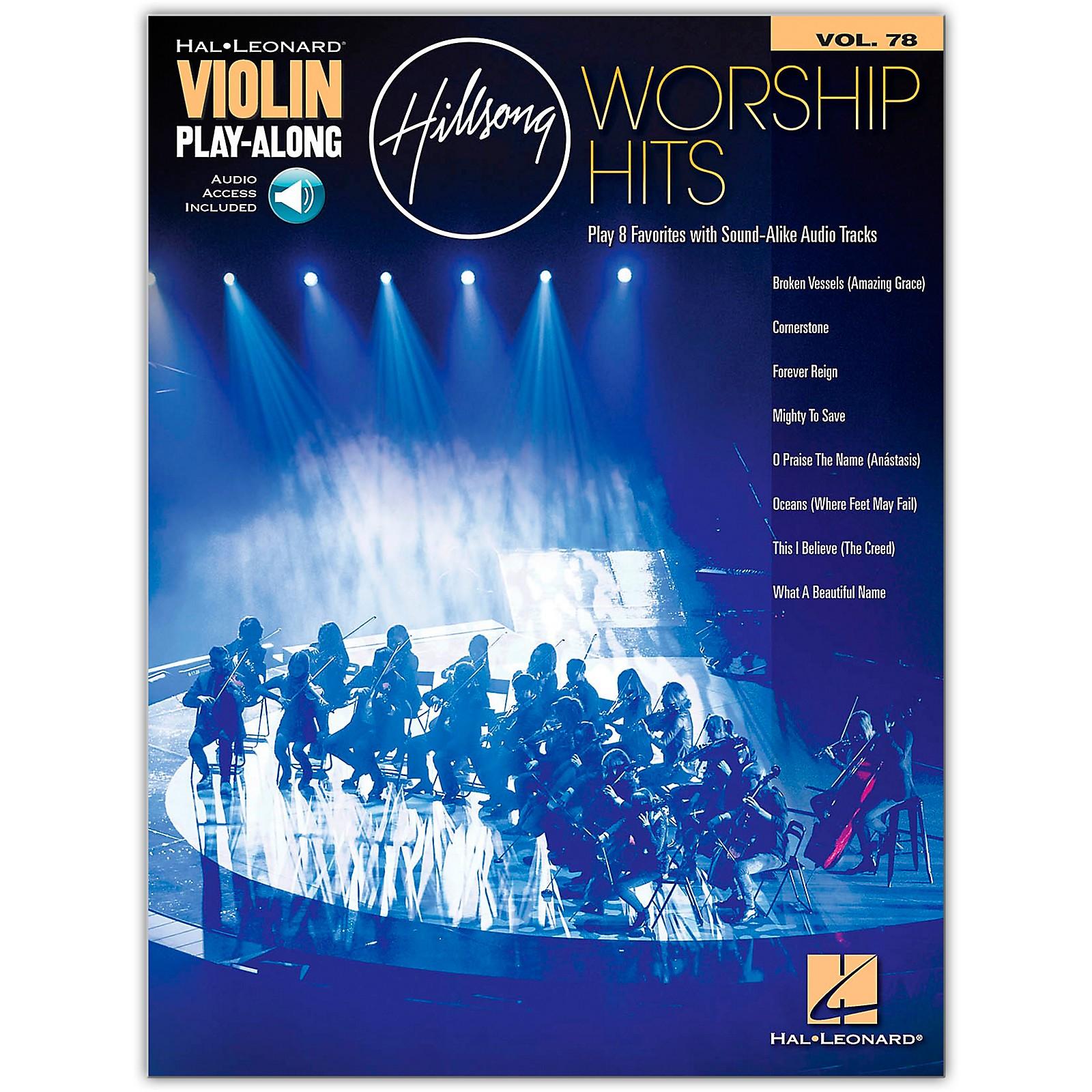 Hal Leonard Hillsong Worship Hits Violin Play-Along Volume 78 Book/Audio Online