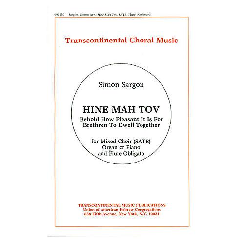 Transcontinental Music Hine Mah Tov SATB arranged by Simon Sargon