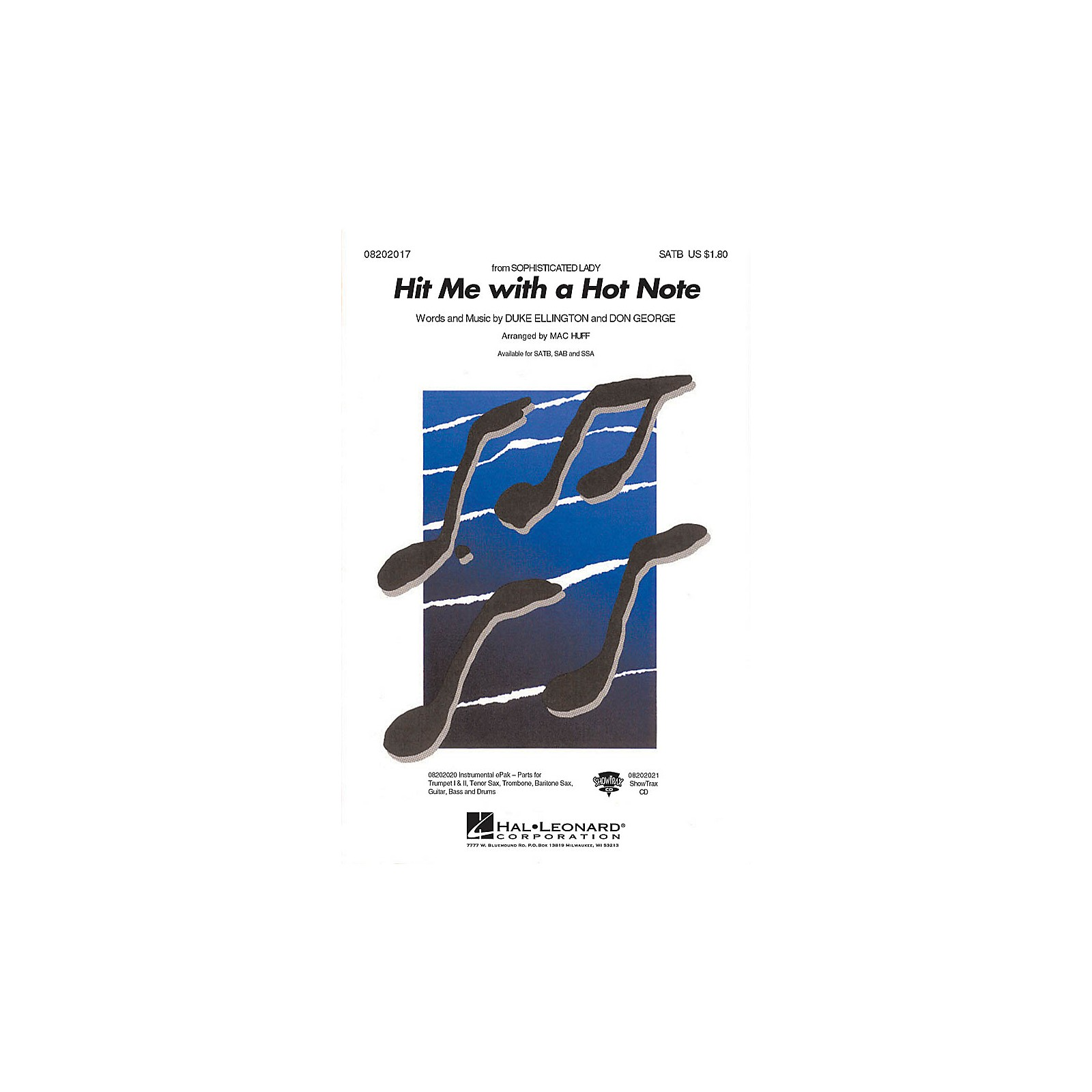 Hal Leonard Hit Me with a Hot Note SATB arranged by Mac Huff