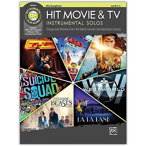Alfred Hit Movie & TV Instrumental Solos Alto Saxophone Book & CD Level 2-3
