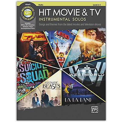 Alfred Hit Movie & TV Instrumental Solos for Strings Violin Book & CD Level 2-3
