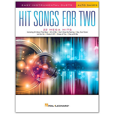 Hal Leonard Hit Songs for Two Alto Saxophones - Easy Instrumental Duets